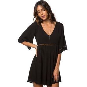 O'Neill Black Jessika Boho Tunic Dress